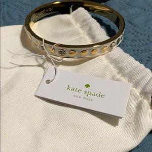 Kate Spade White sbd gold bracelet